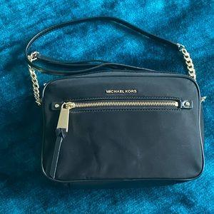 Michael Kors black nylon camera/crossbody bag